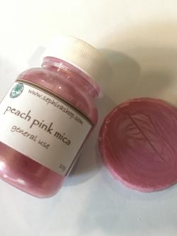 Peach Pink Mica ผงไมก้าสีชมพู