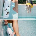ถุงใส่เสื้อผ้า กันน้ำ สะดวกสบาย กระเป๋าใส่ชุดว่ายน้ำ