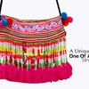 Hmong Embroidery Beaded Tassel Clutch  HMBS 003